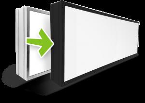 kasetony z ramą aluminiową